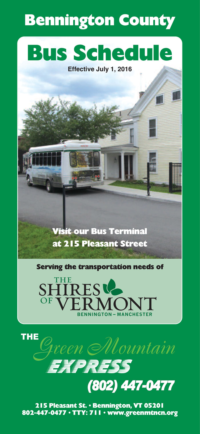 Green Mountain Community Network Bus Schedule